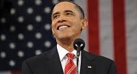 Obama smiles