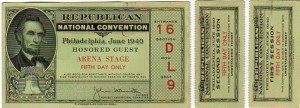 1940 GOP Convention Ticket