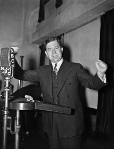 Huey Long doing what he did best - talking