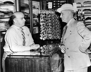 Truman and his business partner in Kansas City clothing store