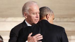 Biden and Obama at Beau Biden's funeral