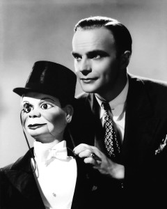 Edgar Bergen and his dummy Charlie McCarthy