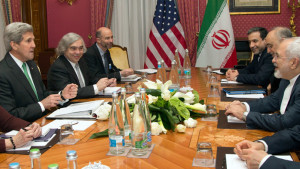 U.S. and Iranian negotiators earlier this year.