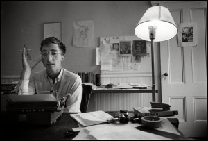 The young Updike at work
