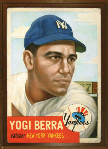Yogi's 1953 Topps baseball card