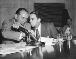 Joe McCarthy and his counsel, Roy Cohn, who tutored Donald Trump in the arts of politics