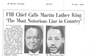 The FBI had a long-running fight with Dr. King